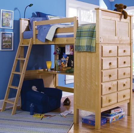 """Кровать-чердак с рабочей зоной """"Камилла"""""""