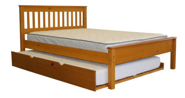 """Кровать двуспальная """"Жасмин"""" с выдвижным спальным местом"""