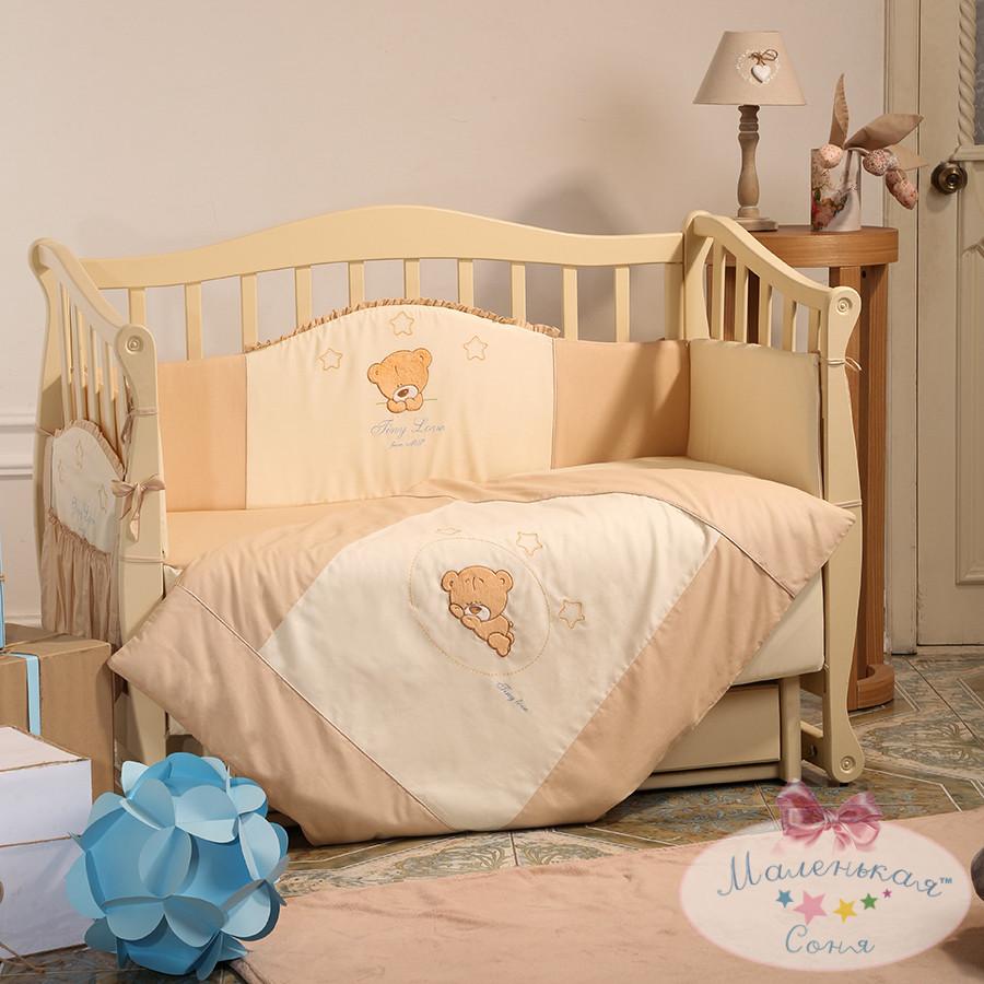 Детский постельный комплект Tiny Love (Шоколадный, 6 элементов), Маленькая Соня