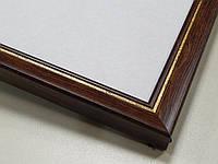 Рамка А4 (297х210).Рамка пластиковая 22 мм.Коричневый с золотой окантовкой.