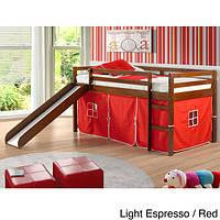 Двухъярусная кровать-чердак «Кайла» с горкой