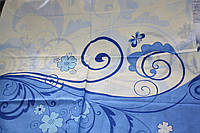 Бело-голубая 70 х 70
