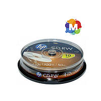 Диски CD-RW НР (Hewlett-Packard) 700 MB 12x Cake box10