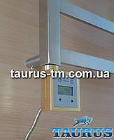 Золотой квадратный электроТЭН с LCD экраном + регулятор + таймер суточный для полотенцесушителя и радиатора