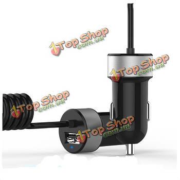 Универсальным USB-порт 2.4а автомобильное зарядное устройство с 1м весенней Micro USB кабель для мобильного телефона таблетки GPS