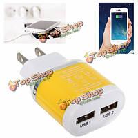 5V 3.1a 2 USB адаптер питания стены путешествия домой зарядное устройство для мобильного телефона настольного ПК