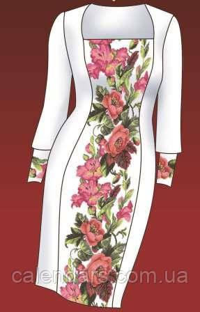 """Набор для вышивания платье """"Розы и гладиолусы""""."""