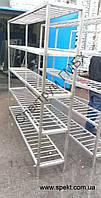 Стеллаж нержавеющий 2000х400х1960 для сушки инвентаря