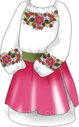 """Набор для вышивания вышиванки для девочки """"Щедрая природа"""""""