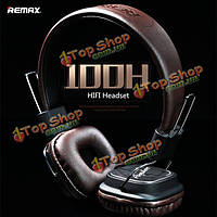 ReMax RM-100h выдвижной PU проводная гарнитура контроль наушники наушники с микрофоном