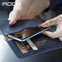 ROCK универсальный роскошный кожаный бумажник случай телефона защитная крышка сумка для iPhone Samsung Xiaomi