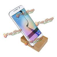Универсальный практический массива бука деревянные телефон Браке держатель стенд с насечкой : 20 мм