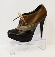 Туфли кожаные на шпильке Kluchini 4175