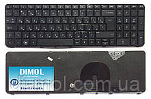 Оригинальная клавиатура для ноутбука HP Pavilion dv7-4000, dv7-4100, dv7-4200, dv7-4300, rus, black, с фреймом