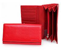 Большой женский кошелек марко Коверна в красном цвете с отделением для кредитных карт. (16172)