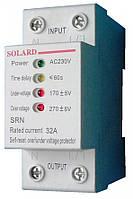 Автоматическое реле контроля напряжения SRN 1p+N 20A 4,4кВт 230В Solard