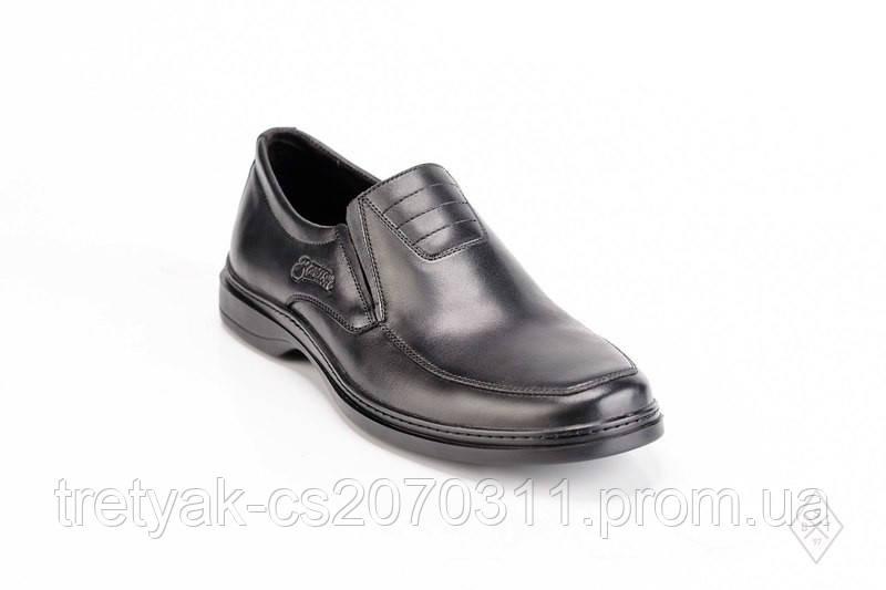 7ed7abecbec4 Мужские кожаные туфли без шнурков чёрного цвета
