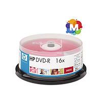 Диски Hewlett-Packard (НР) DVD-R 16x Cake box/25