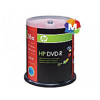Диски Hewlett-Packard (НР) DVD-R 16x Cake box/100