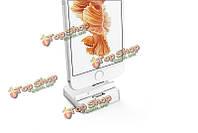 Оснастке магнитный держатель USB зарядка док-станция металлический стенд зарядное устройство конвертер для iPhone 5 5s 6s плюс