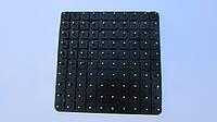Набойки полиуретановые женские на штырьке Б 17 полукруглые черн.рефл.Сумы (Шостка)