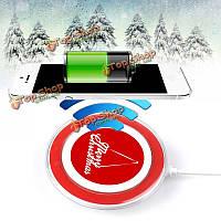 Счастливого Рождества ци беспроводной зарядки зарядное устройство передатчик площадку для iPhone 6s Plus 6 Plus 5 Samsung примечание