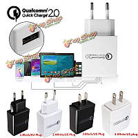 Быстрая зарядка Qc 2.0 15w адаптер USB стены зарядное устройство
