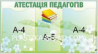 Стенд інформаційний Атестація педагогів