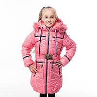 Зимнее пальто для девочки Селина на холофайбере, новинки зима 2017