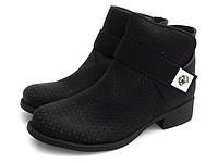 Ботинки женские на низком каблуке