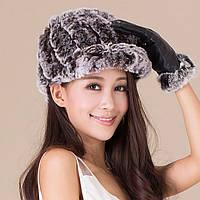 Меховая шапка, кепка из кролика рекс