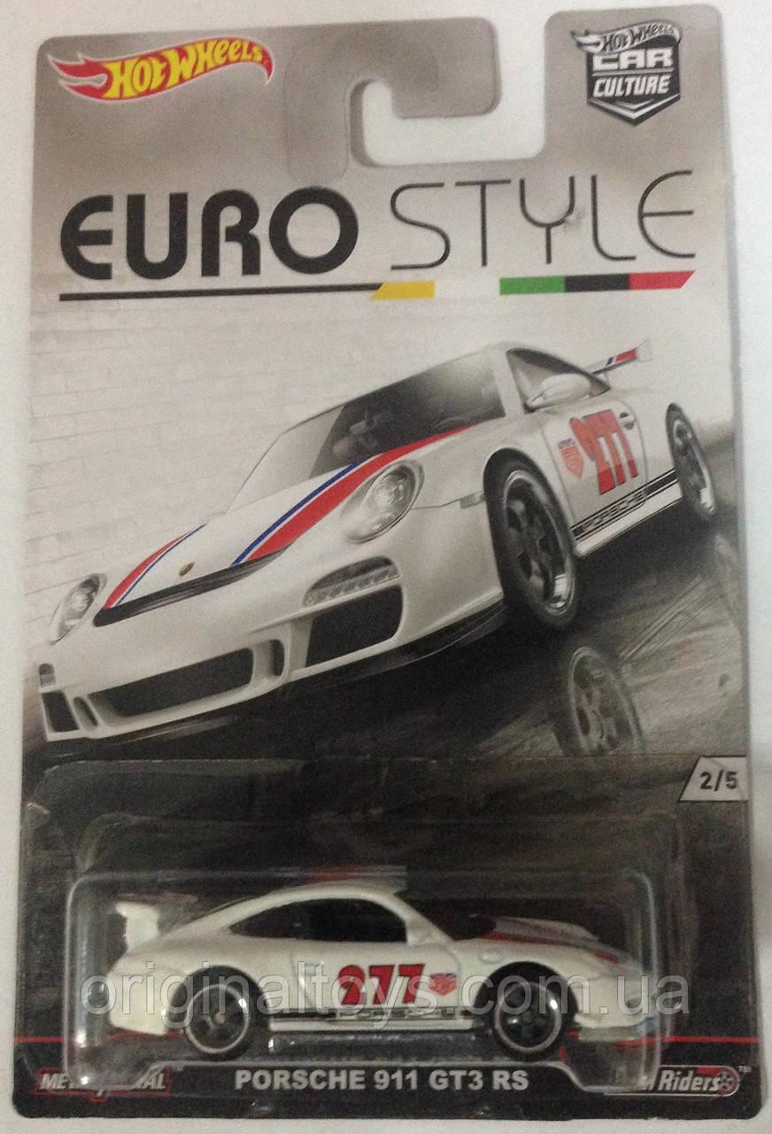Hot Wheels Euro Style модель Porsche 911 GT3 RS