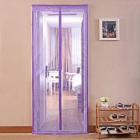 Антимоскитная сетка, шторка 210*100 на магнитах фиолетовая