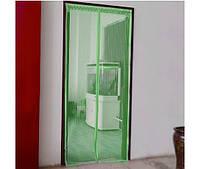Дверная антимоскитная шторка 210*100 на магнитах зеленая