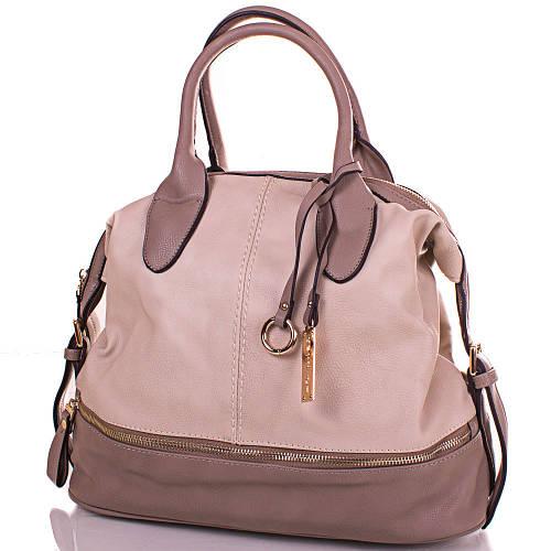 Удобная женская сумка из кожезаменителя GUSSACI (ГУССАЧИ) TUGUS13D044-3-9  (серый)
