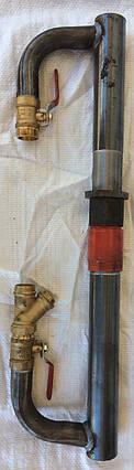 Байпас 40 мм длинный с чугунным клапаном, фото 2