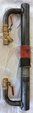 Байпас 50 мм длинный с чугунным клапаном, фото 2