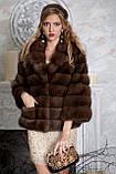"""Шуба полушубок из куницы """"Аделина"""" marten fur coat jacket, фото 4"""
