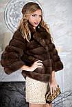"""Шуба полушубок из куницы """"Аделина"""" marten fur coat jacket, фото 5"""