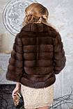 """Шуба полушубок из куницы """"Аделина"""" marten fur coat jacket, фото 6"""