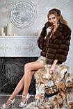 """Шуба полушубок из куницы """"Аделина"""" marten fur coat jacket, фото 7"""