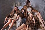 """Шуба полушубок из куницы """"Аделина"""" marten fur coat jacket, фото 8"""