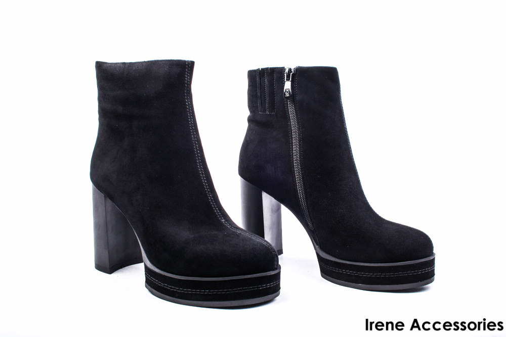 9773857a58ee Ботильоны женские замш Angelo Vani (ботинки высокий каблук, байка с 35р)