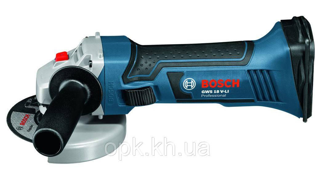 ✅ Угловая шлифмашина аккумуляторная Bosch GWS 18-125 V-LI - ТОВ О.П.К. Компанi в Харькове