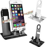 Алюминиевая зарядки док станция стенд держатель для Apple часов iPhone 6s Plus 6 Plus