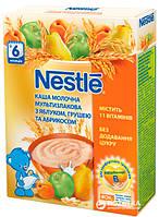 Каша молочная Nestle мультизлаковая с яблоком, грушей, абрикосом и  бифидобактериями