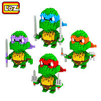 Конструктор LOZ - Черепашки-ниндзя 4 героя