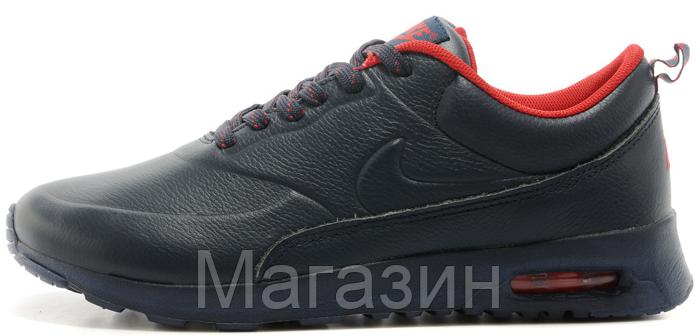 ff348d82 Мужские кроссовки Nike Air Max Thea Leather Dark Blue (в стиле Найк Аир Макс )