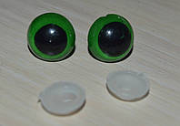 глазки зеленые 14 мм