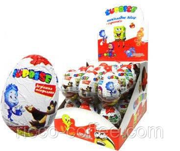 Шоколадное яйцо Сюрприз 25 гр., цена 90 грн./упаковка, купить в Днепре — Prom.ua (ID#354573963)